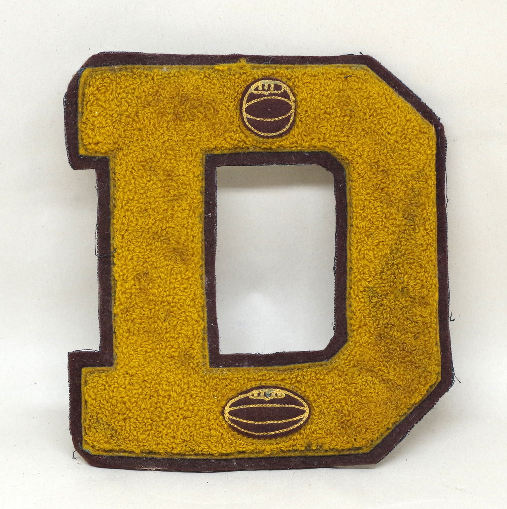 Big Yellow D Letter Patch