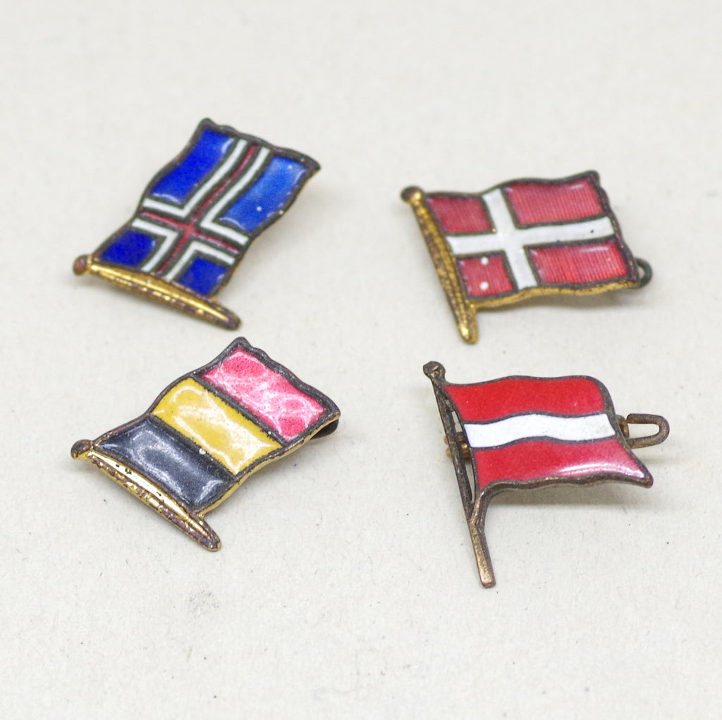 Northern European Enamel Flag Pins