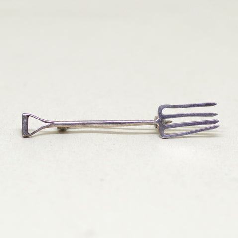 Sterling Pitchfork Pin