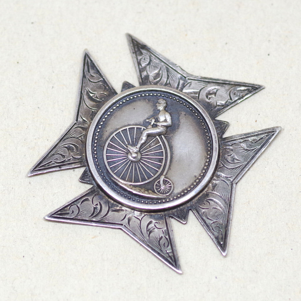 1927 Silver Penny Farthing Bicycle Medal