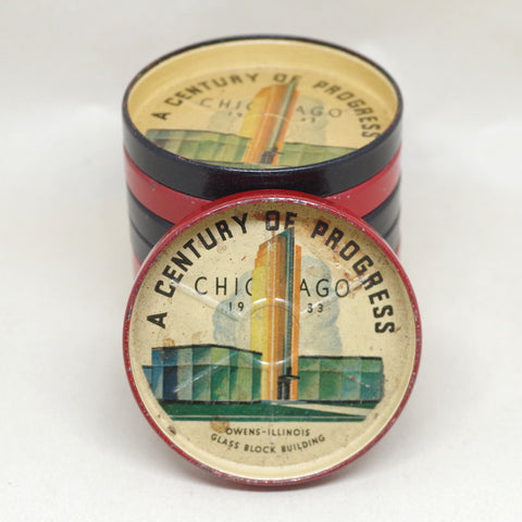 1933 Chicago World's Fair Coaster Set