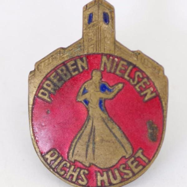 Vintage Danish Dance Lapel Pin