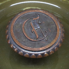 "Hefty ""C"" Monogrammed Ashtray"