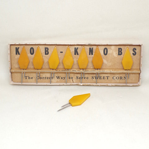 "1930s ""Kob Knob"" Corn Holders"
