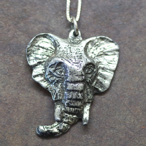 Sterling Elephant Head Charm