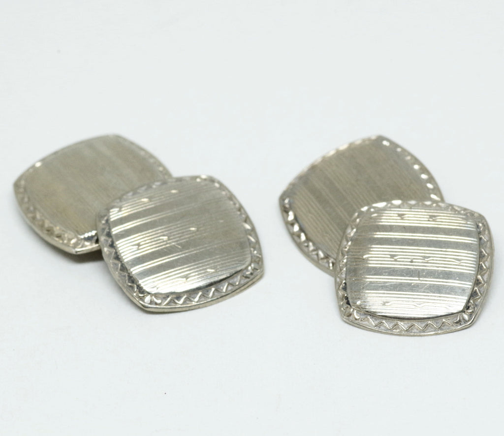 Great Sterling Double-Sided Cufflinks