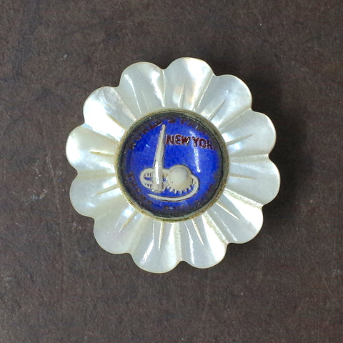 1939 New York World's Fair Glass Flower Pin