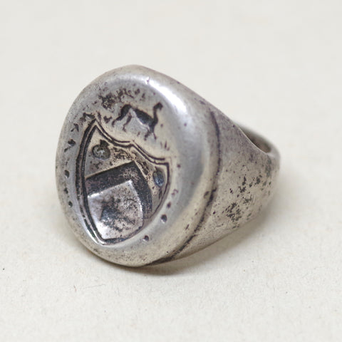 Chunky Sterling Crest Ring