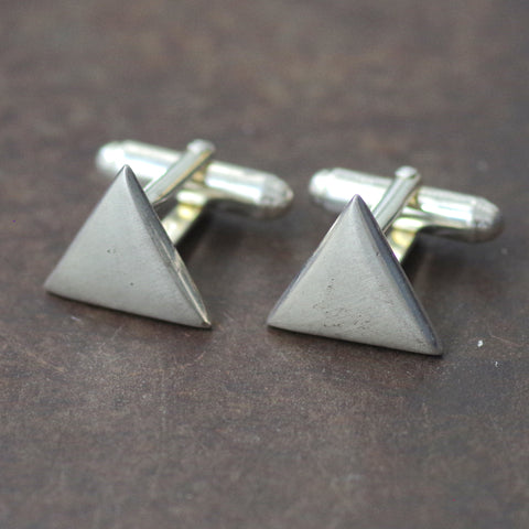 Sterling Triangle Cufflinks