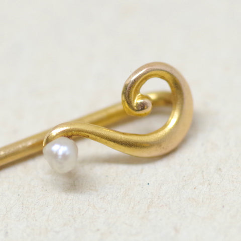10kt Gold Question Mark Stick Pin