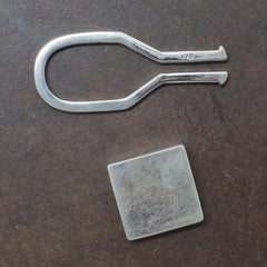 Sterling Square Key Ring