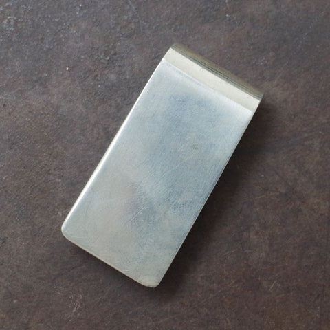 Plain Faced Mexican Silver Money Clip