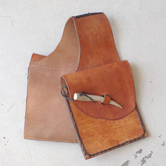 Handmade Horn & Leather Saddle Bags / Panniers