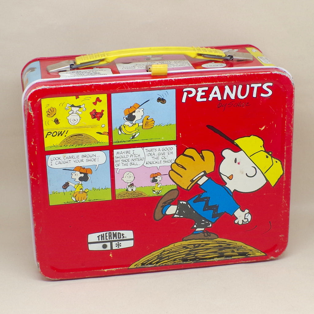 Vintage Red Peanuts Lunchbox w/ Thermos
