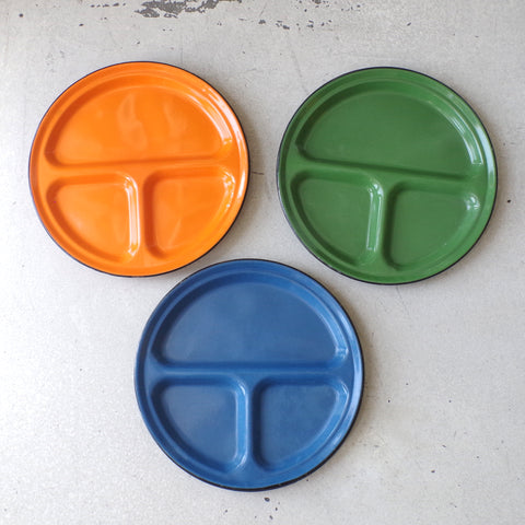 Colorful Enameled Metal Camp Plates