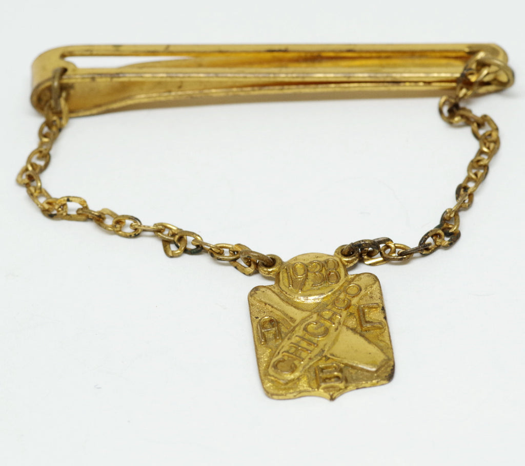 1938 Chicago Bowling Charm Tie Bar