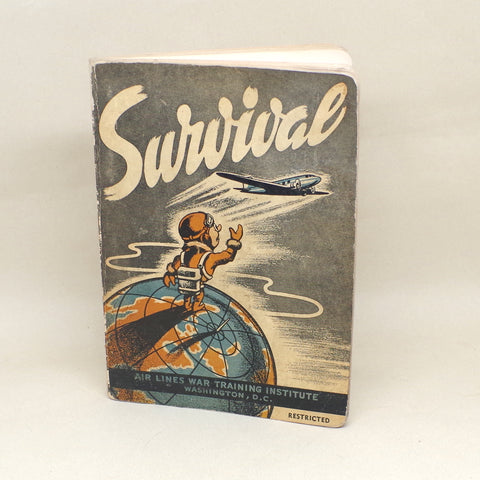 Vintage WWII Pilot's Survival Guide Book