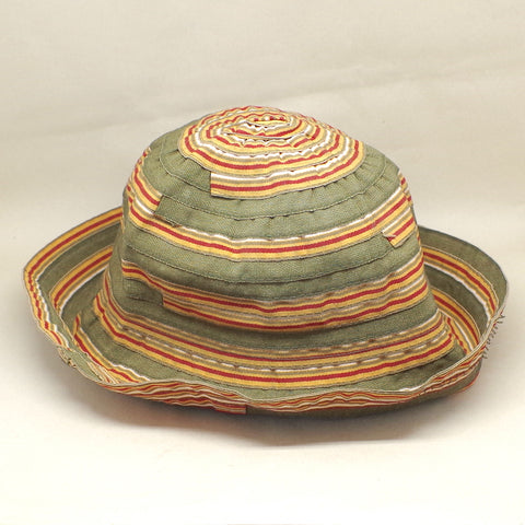 Cotton/Poly Striped Bucket Hat- XS/S