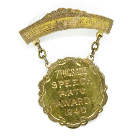 1940 Speech Arts Award