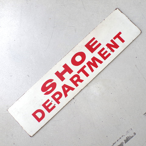 Circa 1960s Shoe Department Sign