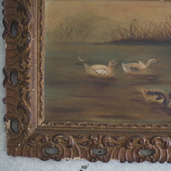 Edwardian Painting of Some Ducks
