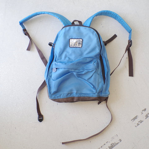 Light Blue 1970s High Trails Backpack