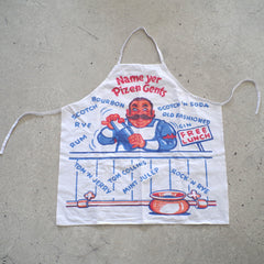 "1960s Bartender's ""Name Your Poison"" Apron"