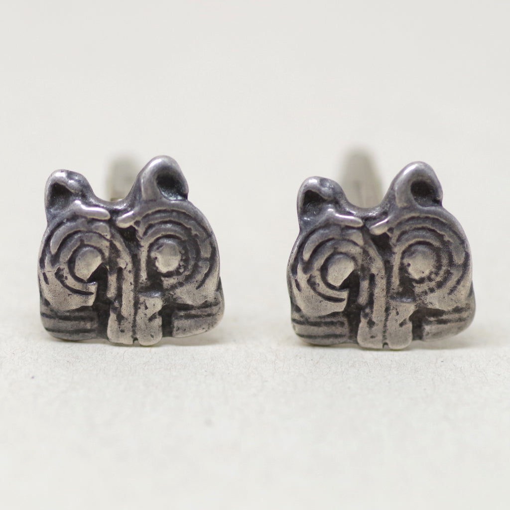 Sterling Silver Abstract Owl Cufflinks