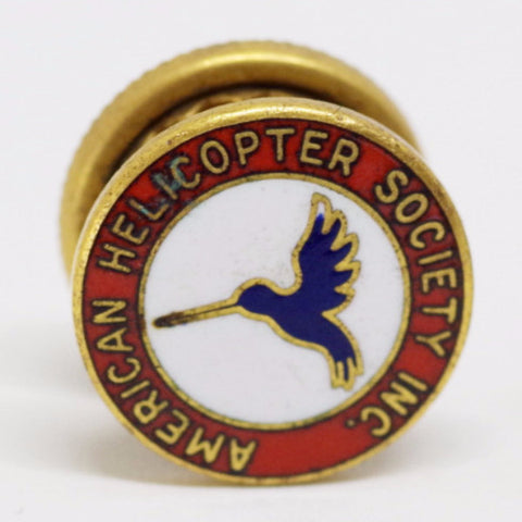 "Vintage ""American Helicopter Society"" Screw Back Pin"