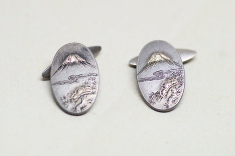 Sterling Mt. Fuji Cufflinks