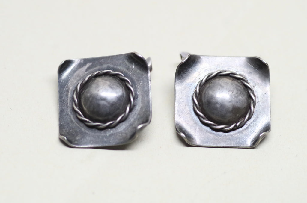 Sterling Silver Domed Cufflinks
