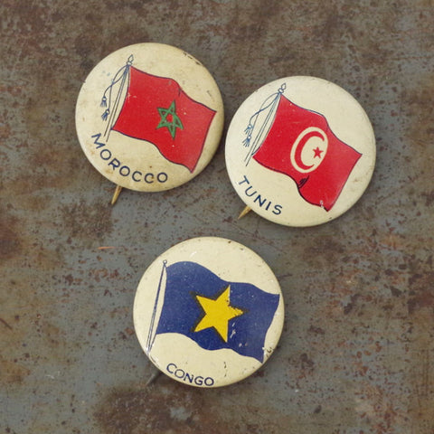 Vintage Flags of Africa Pins