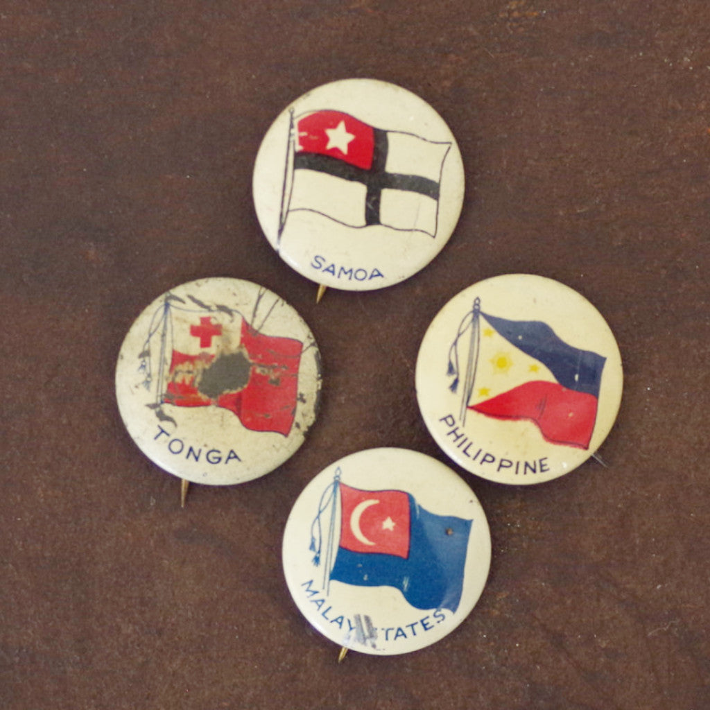 Vintage Flags of the Pacific Pins