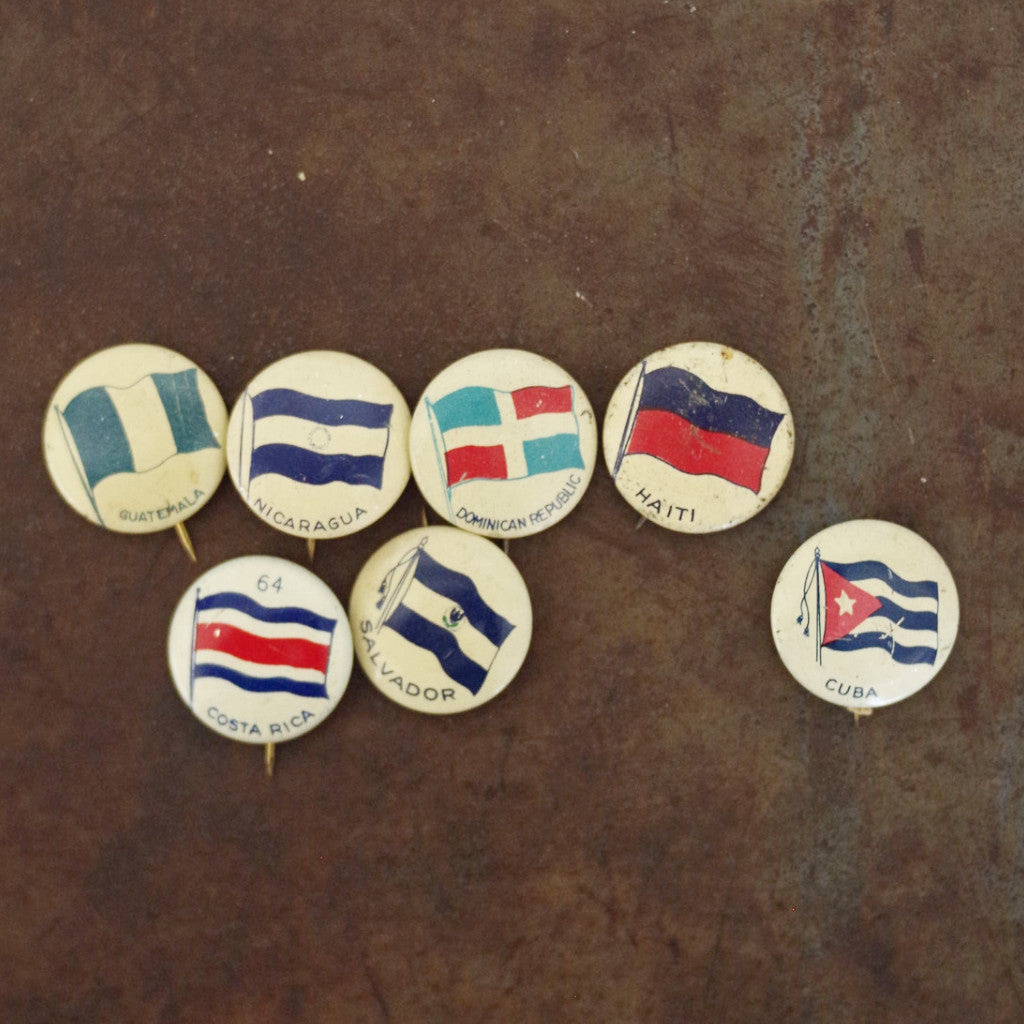 Vintage Flags of Central America Pins