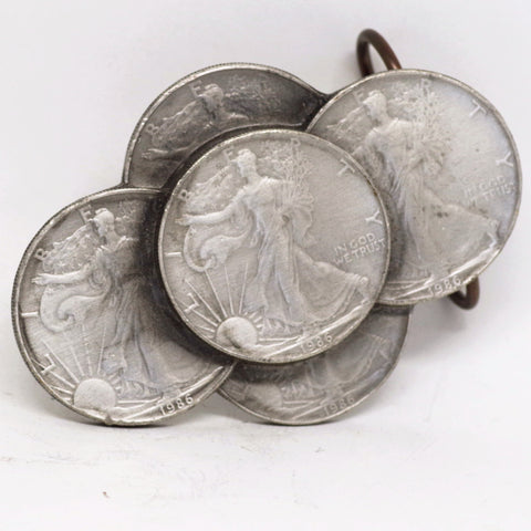 Silver Dollar Belt Buckle