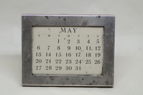 Vintage Tiffany & Co sterling perpetual calendar