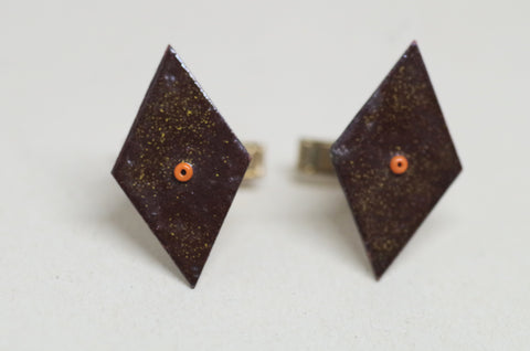 Diamond Enamel Cufflinks