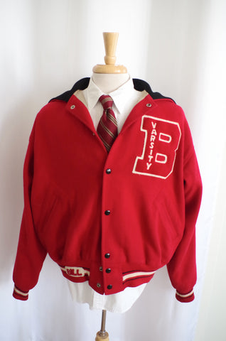 "Unique ""B-Ville"" 1940s Varsity Jacket XL"