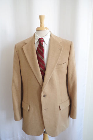 1970s Polo Camel Hair Sport Coat - 42L