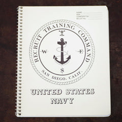 Vintage Navy Recruit Spiral Notebook