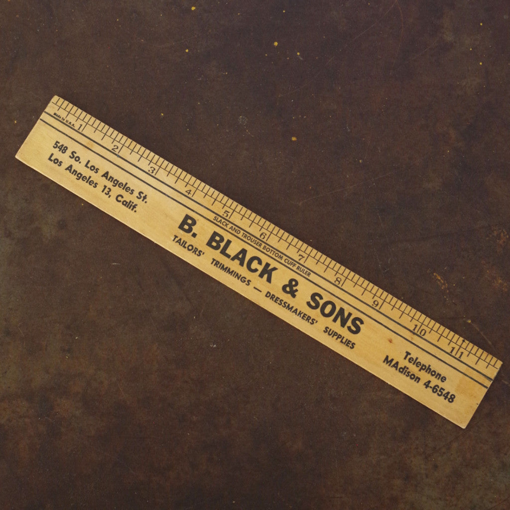 "Vintage ""B. Black & Sons"" Ruler"