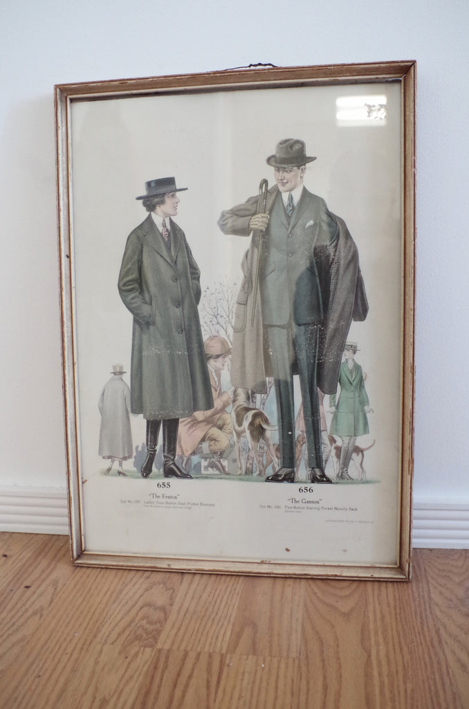Framed 1920s J. C. Leyendecker Menswear Illustration