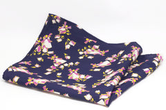 Serene Dutch Countryside Navy Rayon Pocket Square by Put This On