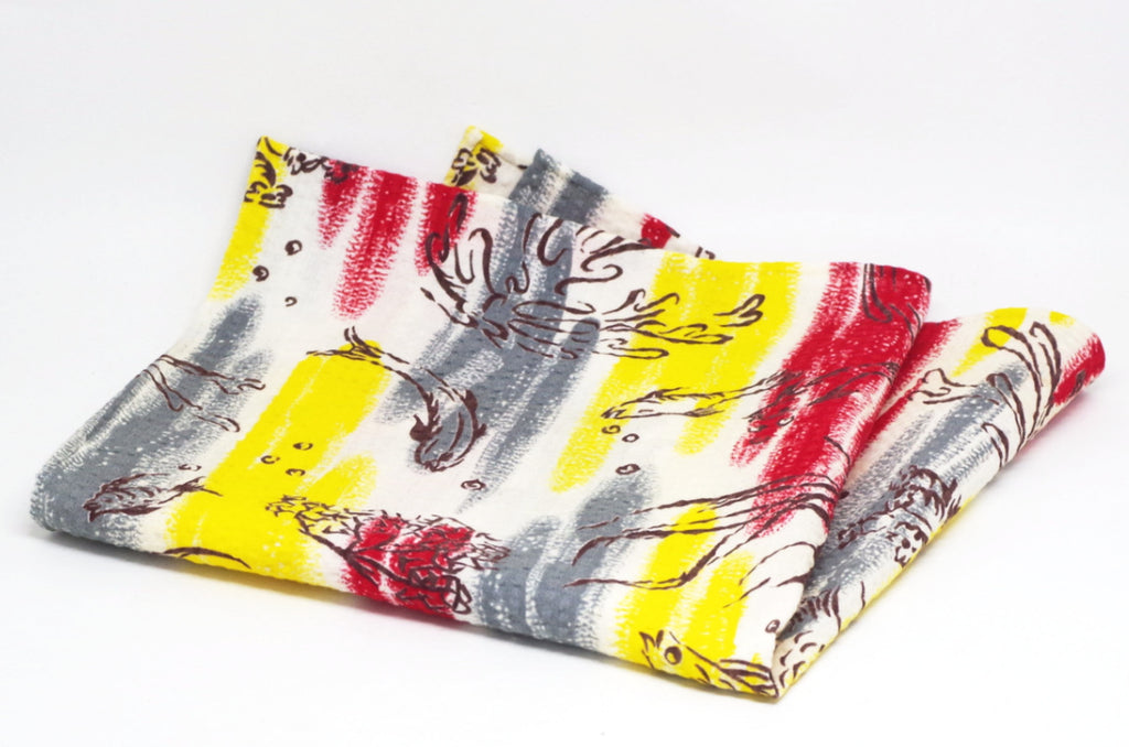 Sunny Underwater Scene Cotton Pocket Square by Put This On