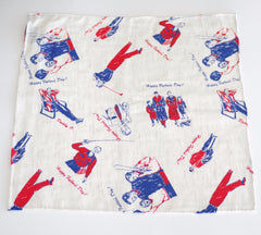 """Happy Father's Day"" Cotton Pocket Square by Put This On"