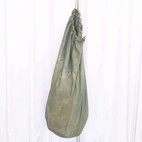 Vintage Army Light Green Twill Laundry Duffel