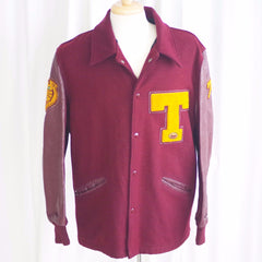 "Vintage ""Tigers"" Letterman Jacket - 42"