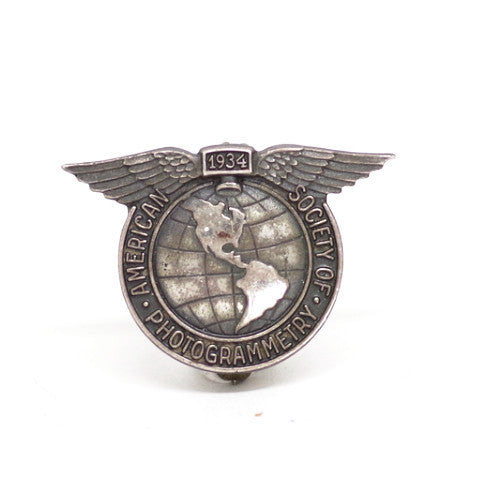"Sterling Silver ""American Society of Photogrammetry"" Pin"