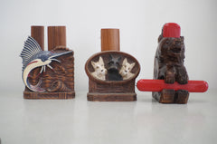 1940s-60s Vintage Clothes Brush Holders