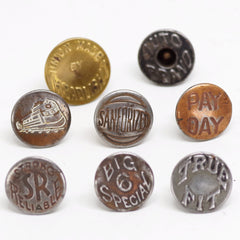 Vintage Denim Buttons